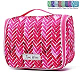 Chapter: True Colors. Large Makeup & Cosmetic Hanging Toiletry Bag Travel Organizer for Men & Women - Fuchsia Cocktail