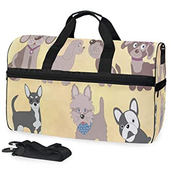 Travel Duffel Bag Waterproof Fashion Lightweight Large Capacity Portable Luggage Bag Boston Terrier Dog Funny