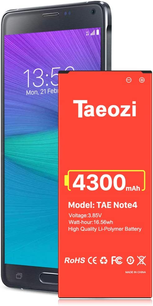 bateria celular Galaxy Note 4 4300mah taeozi