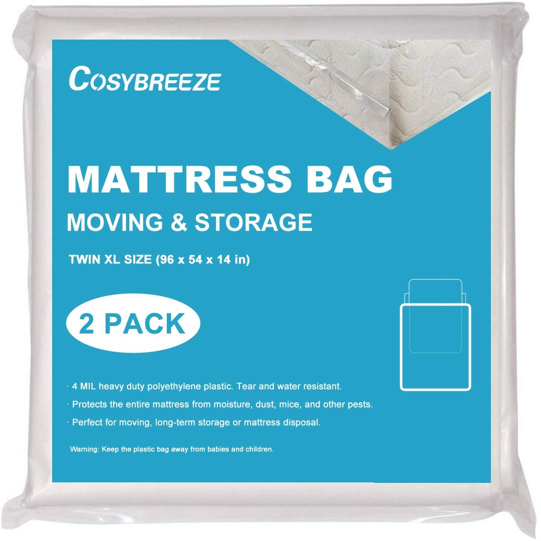 Cosybreeze Mattress Bag for Moving, Long-Term Storage and Disposal