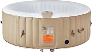 U-MAX Inflatable Hot Tub, Portable SPA Blow Up Hot Tub with Built in Heater and Bubble Function (2-4 People)
