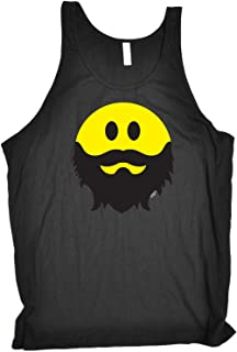 123t Funny Novelty Funny Vest - Bearded Smile - Bella Singlet Top