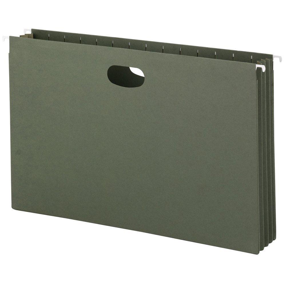 Smead Hanging File Pocket, 3-1/2 Expansion, Legal Size, Standard Green, (64320) (2 X Pack of 10)