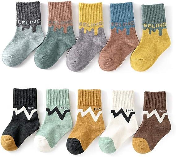 Kids Boys Girls Socks Baby Cotton Cozy Crew Socks Unisex Children Casual  Athletic Socks Girls Dress Socks 3-12 T 10 - Pairs: Amazon.ca: Clothing &  Accessories
