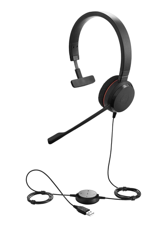 Jabra Evolve 20 stereo noise cancelling headphones Black optimised for Microsoft Lync