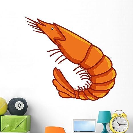 Amazon.com: Camarón ilustración calcomanía de pared por ...