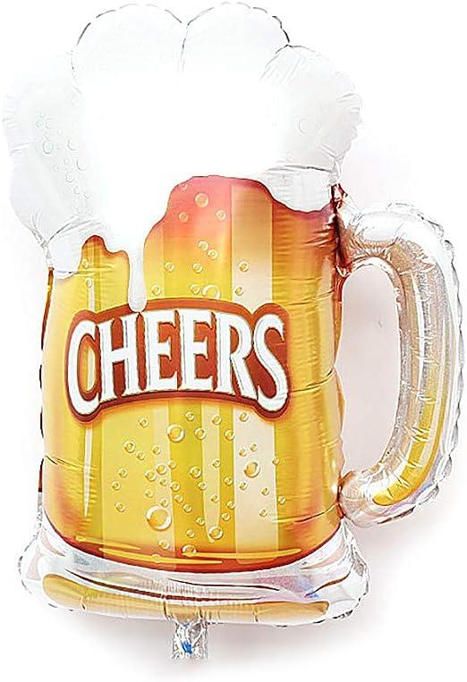 Deanyi Forma 1pc Taza de Cerveza Saludos Partido Globo de la Hoja ...