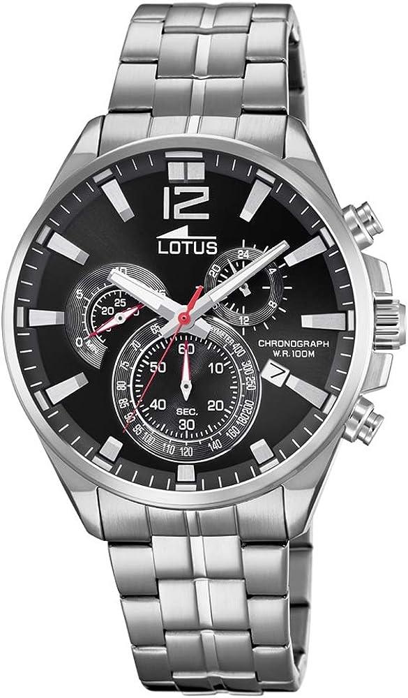 Lotus Reloj Hombre de Cuarzo analógico con Correa en Acero Inoxidable 10136/4