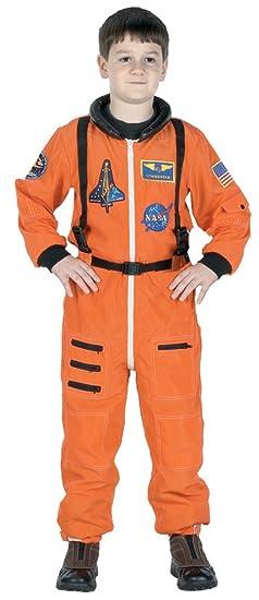Amazon Com Boys Astronaut Suit Orange Kids Child Fancy Dress Party