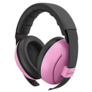 TOENNESEN Baby Ear Protection Noise Cancelling Headphones for 3 Months to 3 Years, NRR 34dB Noise Reduction Ear Muffs. The Most Comfortable Ear Protection for Toddlers/Babies. (Pink)