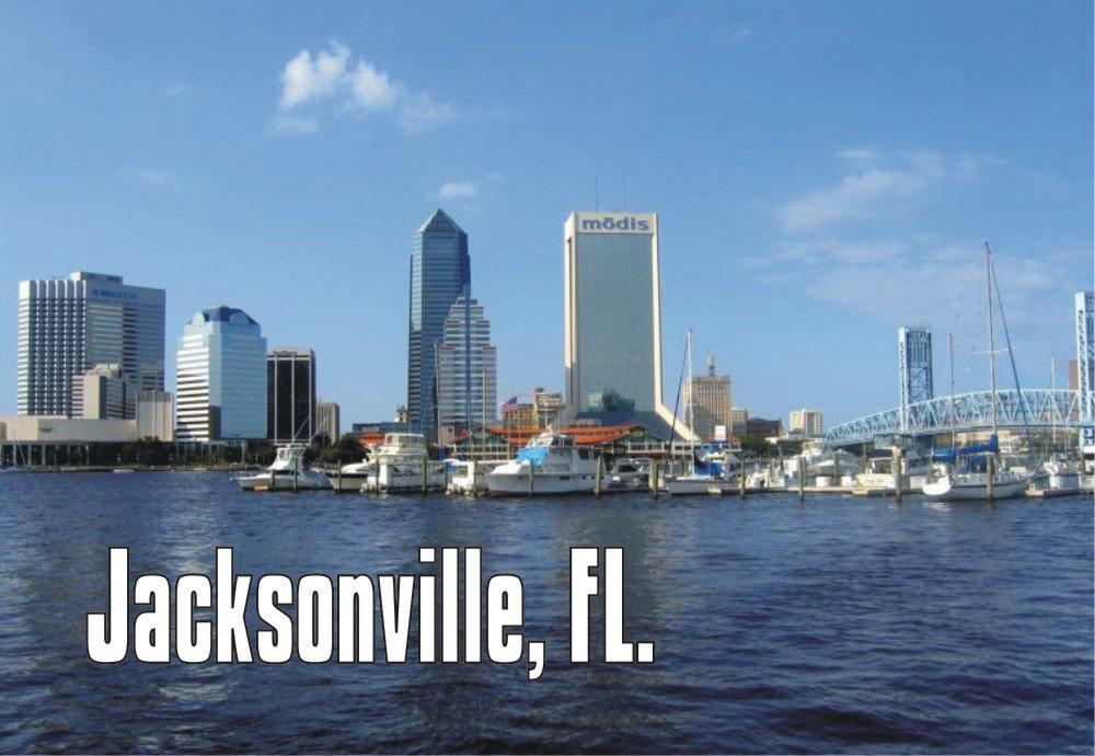 Jacksonville, Florida, FL, City Skyline, Building, Souvenir Magnet 2 x 3 Photo Fridge Magnet