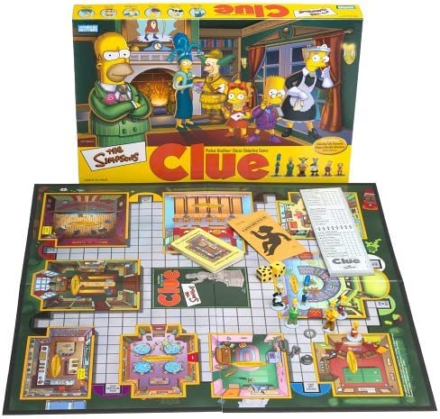 The Simpsons Clue Board Game 2nd Edition You choose the pieces you want