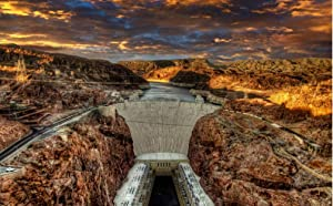 nobrand Hoover Dam Landscape USA DIY Canvas Painting Paint by Numbers Adults Beginner