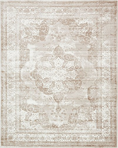 Traditional Persian Vintage Design Rug Beige Rug 8' x 10' FT (305cm x 244cm) Sofia Area Rug Inspired Overdyed Distressed Fancy