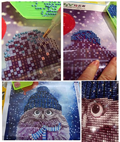 Owl Painting Owl Paint -3D Diamond Painting Cross Stitch Pattern 5D Diamond Embroidery Owl diamond Mosaic Resin Home Decor DIY diamond art - Home Decor Kit