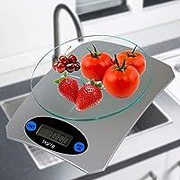 Balança de cozinha digital precisao PRATA 5 kgs CBRN01538