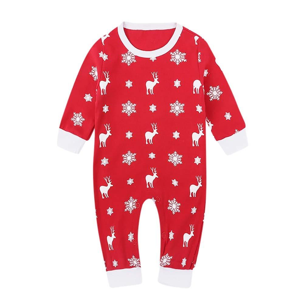 Natale Neonato Tuta Unisex Lettera Dot Stampa Jumpsuit Pigiama Abbigliamento