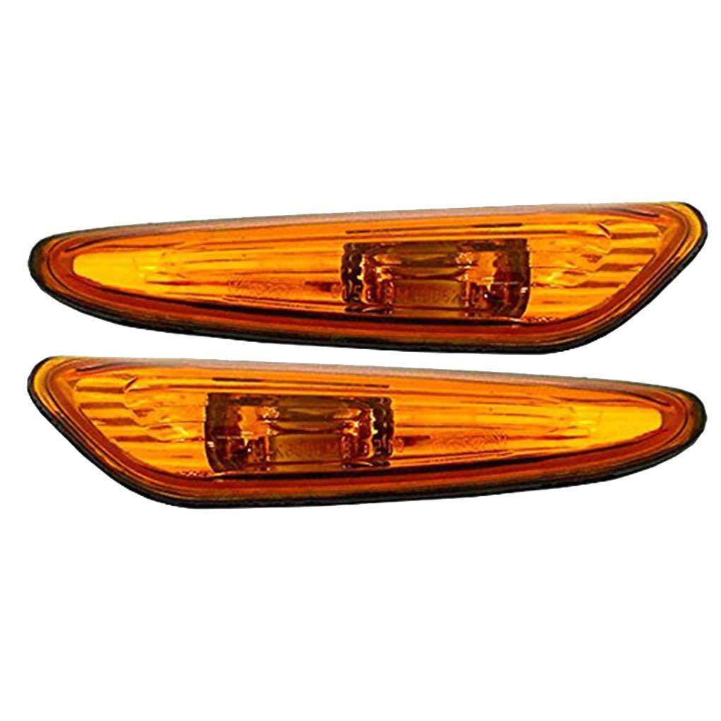fgyhty 1 Paire Pare-Chocs Noir Marqueur feu /à Remplacement Indicateur pour BMW E46 2001-2005 63137165913 63137165914