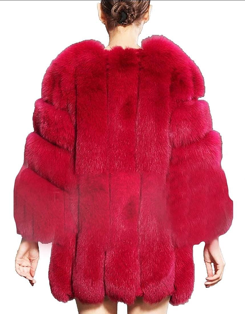 3 jxfd Women Warm Winter Long Sleeve Front Open Short Faux Fur Cardigan Jacket