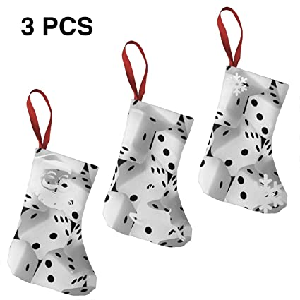 Amazoncom Tingscity Large Black And White 3d Dice Christmas