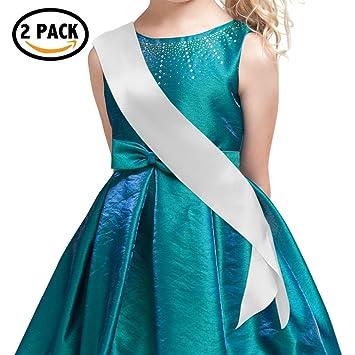 Amazon Com Blank Stain Sash For Kids Plain Sash Party Decorations