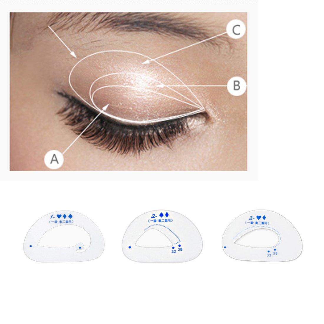 Juego de 6 plantillas para sombra de ojos, para cosméticos, para cejas, para maquillaje, para manualidades, herramientas de belleza: Amazon.es: Belleza