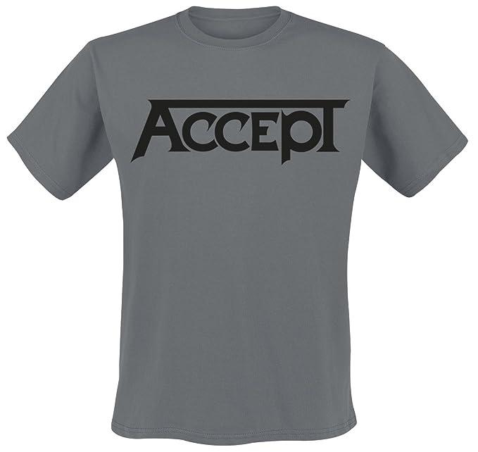 Accept Logo Camiseta Gris Marengo ymlXI