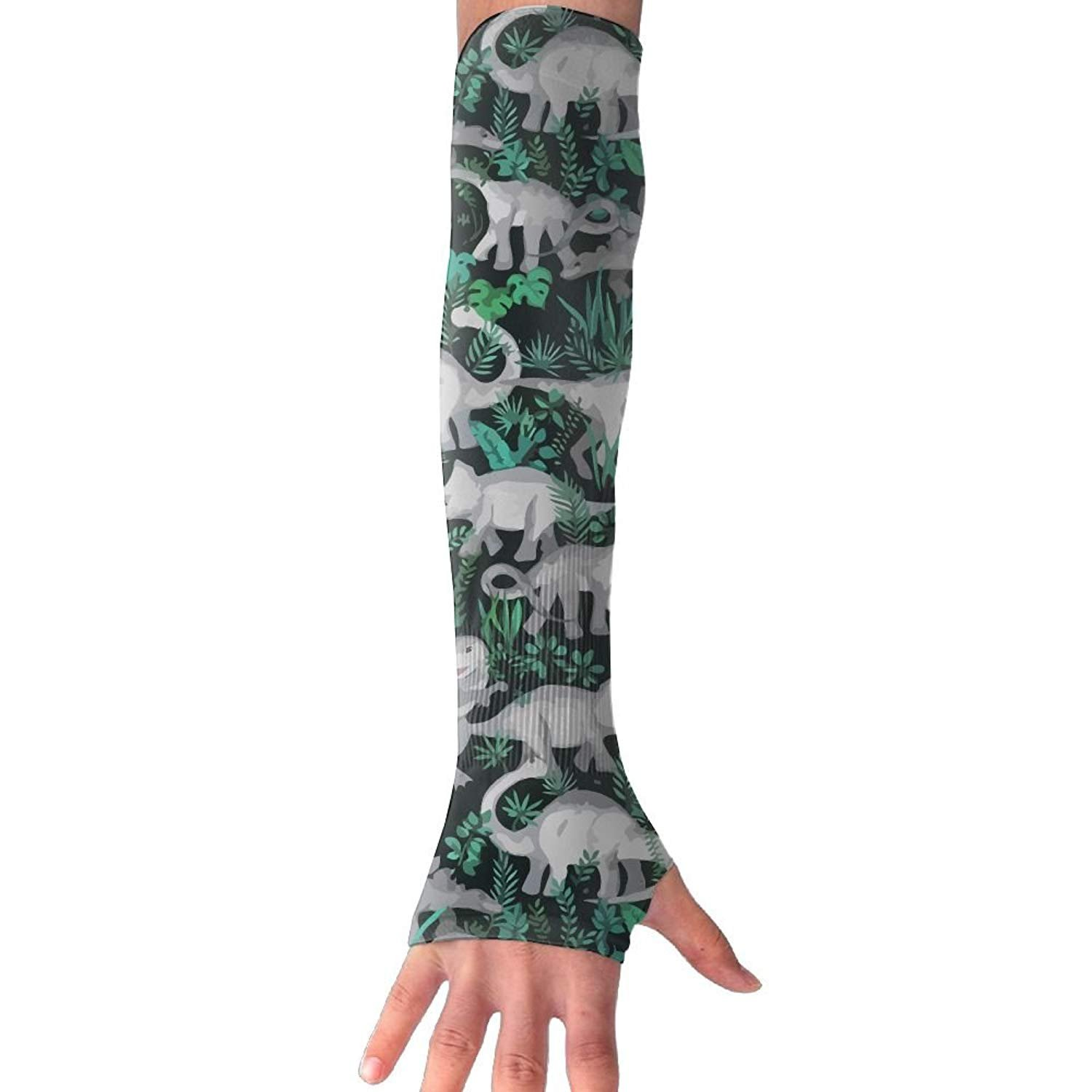 Unisex Watercolor Richo Dinosaur Sunscreen Outdoor Travel Arm Warmer Long Sleeves Glove
