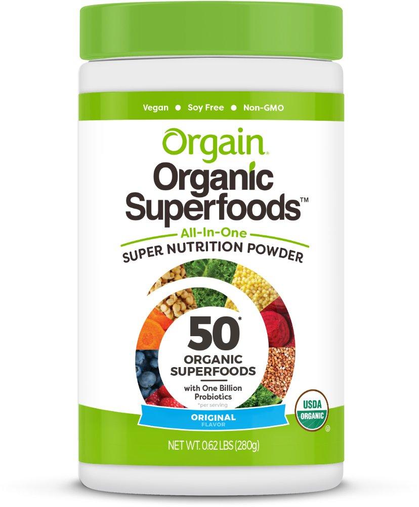 Orgain Organic Superfoods, Original, 0.62 Pound, 1 Count, Vegan, Non-GMO, Gluten Free