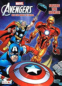marvel the mighty avengers coloring book saving the world big fun book to color by marvel - Marvel Coloring Books