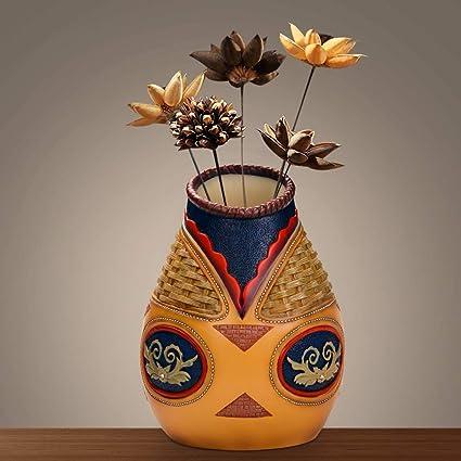 Amazon.com & BC BINGO CASTLE Decorative Vase Resin Flower Vase for Flower Arrangements Home Decor or Collection (Decorative Vase)