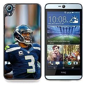 "Qstar Arte & diseño plástico duro Fundas Cover Cubre Hard Case Cover para HTC Desire 826 (Jugador de fútbol 3"")"