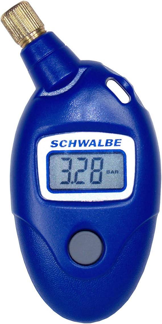 Schwalbe Airmax Pro - Medidor de presión de aire, accesorio para bicicleta, 9,5 x 4,5 x 2 cm, color azul