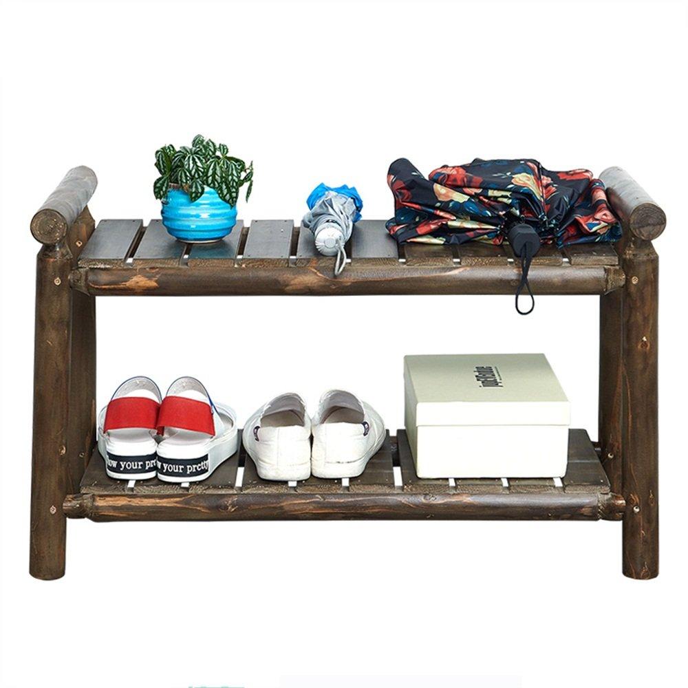 EIDUOシューズラック 靴の6つのペアに適したスタック可能な高品質のパイン靴ラック2層重量50キロまで76 * 38 * 50センチメートル 自宅に適しています (色 : 2) B07DK46SF9 2