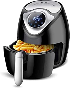 SUCICI Air Fryer Large Capacity Air Fryer Household Smoke Free Electric Frying Pan Screen French Fry Machine 1300 W 2.6L