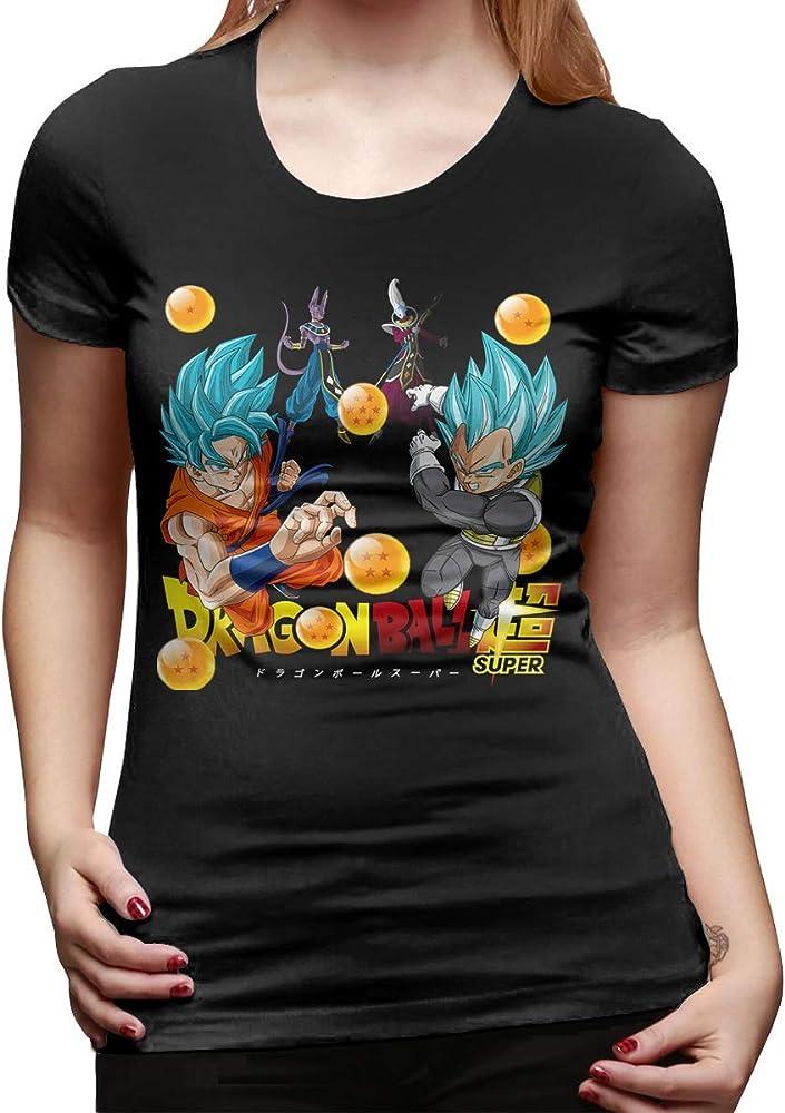 FCWR-MF Camiseta Linda Mujer Dragon Ball Z Clipart Moda Camiseta Negro: Amazon.es: Ropa y accesorios