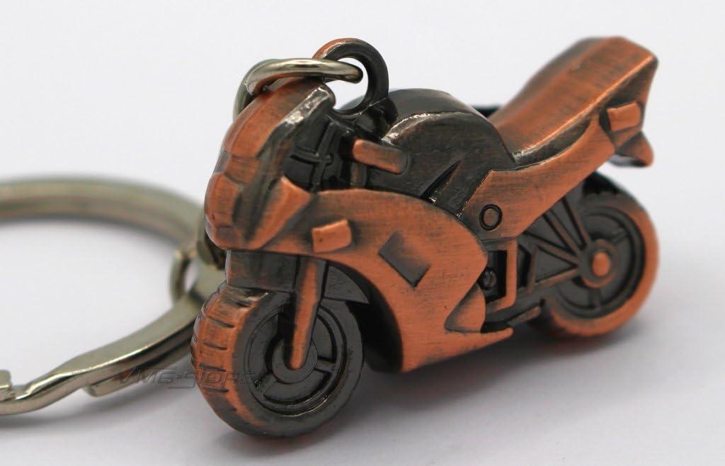 Mini Motorrad Schwarz Metall Schl/üsselanh/änger von VmG-Store