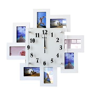 Komo silencioso Moderno Decoración Adorno para Hogar Reloj de Pared Blanco Elegante Sala de Estar Moderna decoración Relojes Personalizados Reloj Dormitorio ...