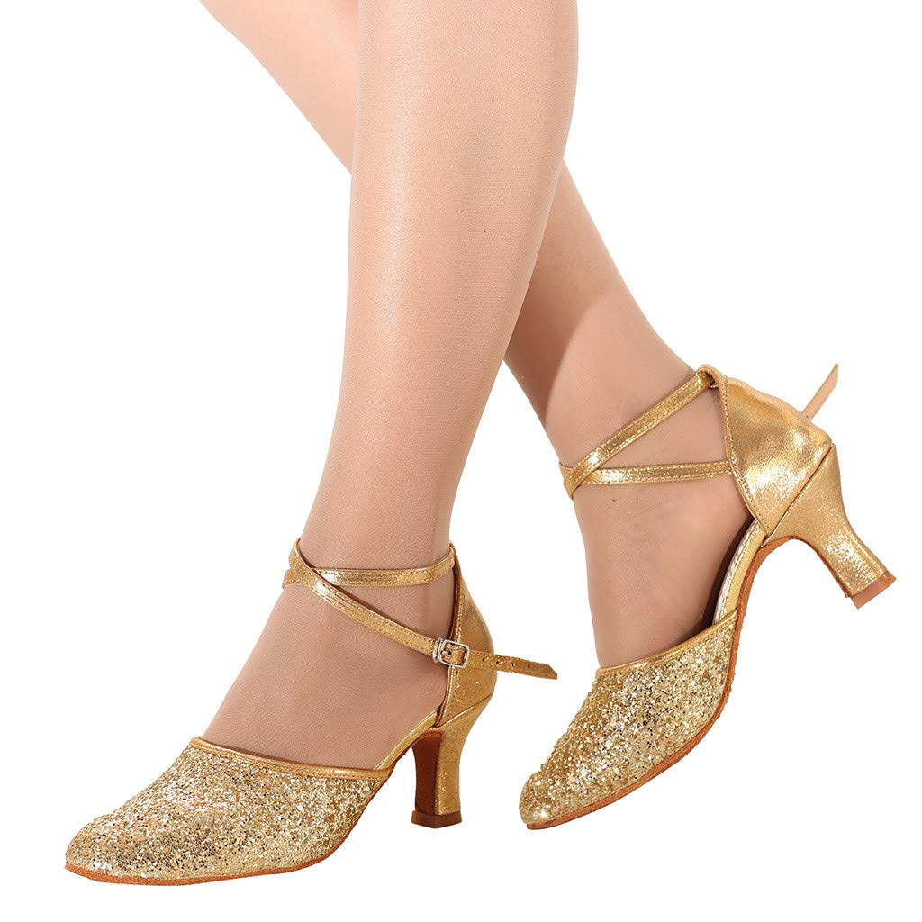 Fashion Lady Latin Dance Ballroom Dancing Shoes Soft Bottom Waltz Dance Shoes Mallcas Modern Fashion Simple Sandals