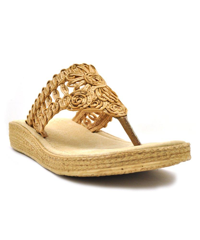 Sbicca Women's Fresa Wedge Sandal B0731KFWHG 6 B(M) US|Natural