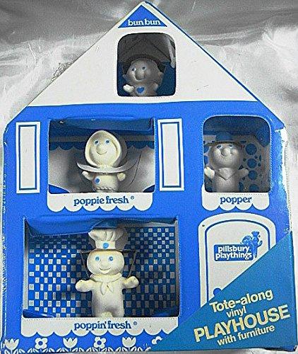 ヴィンテージ1974 Poppin ' Freshトートバッグalong Playhouse with Poppin ' Fresh、Poppie Fresh、Popper & bun-bun playthings-new in factory sealed packaging-very Rare   B07DKWFJJC