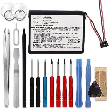 subtel® Batería Premium Compatible con Garmin Edge 820, 520, 500, 205, 200 / Edge Explore 820, 361-0043-00,361-0043-01 600mAh + Juego de Destornilladores Pila Repuesto bateria: Amazon.es: Electrónica
