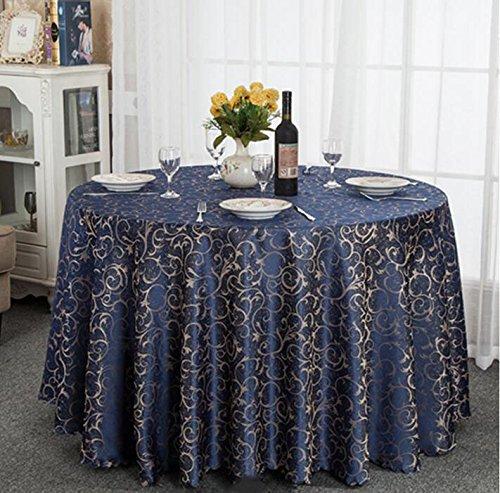 QIN PING GUO QPG Hotel-Tischdecke-Tuch europäisches Gaststätte-Hotel-Tischdecke nach Maß Kaffee-Tabellen-runde runde Tisch-Tischdecke-Tischdecke (Farbe   A, größe   360cm) B07CSGTL3N Tischdecken Spielen Sie das Beste  | Gemäßigt