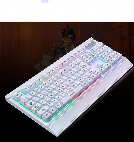 BP PB de Dos Colores de luz de Fondo del Teclado USB ...