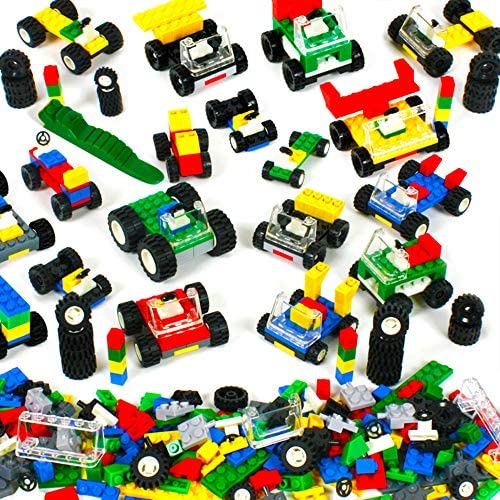 BONUS Minifigure bike Wheels LEGO 1 lb Multicolor Lot Random Building Bricks