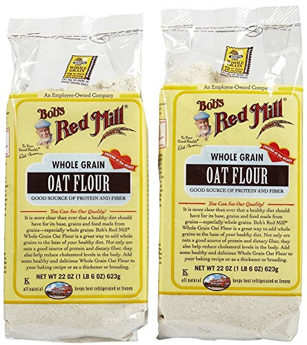 - Bob's Red Mill Whole Grain Oat Flour, 22 oz, 2 pk
