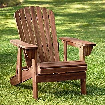 Amazon Com Lifetime Faux Wood Adirondack Chair Light