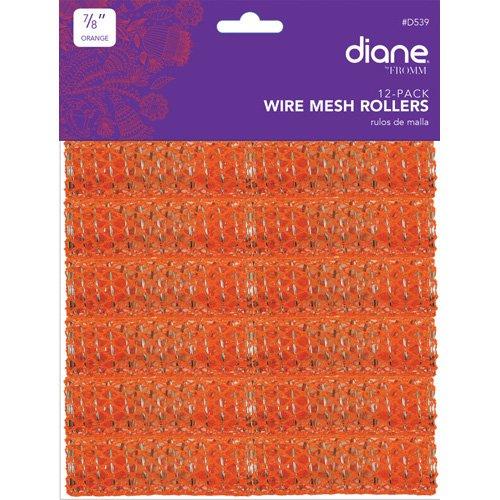 Diane Mesh Roller, Orange, 7/8 Inch, 12 Count D539