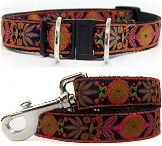 product image for Diva-Dog 'Venice Ink' Dog Collar with Safety Buckle, Matching Leash Available - Teacup, XS/S, M/L, XL