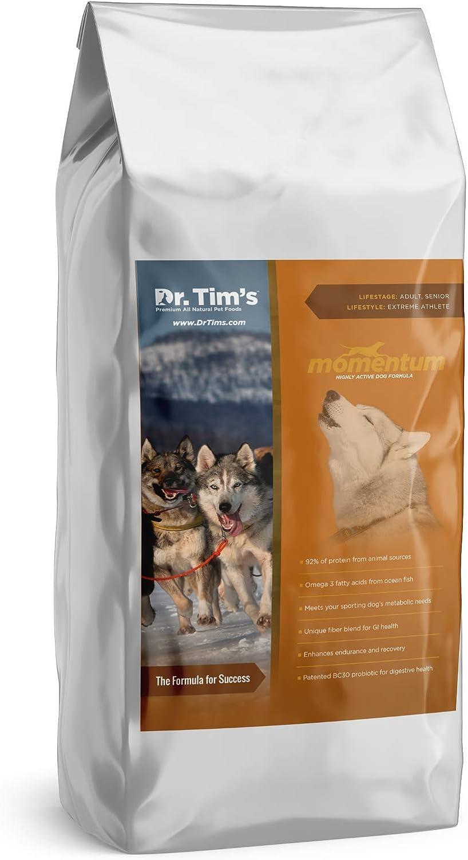 Dr. Tim'S Premium All Natural Pet Food Momentum Highly Active Dog Formula 18#